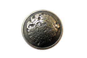 Small Old Silver Brass Crest Shank Buttons