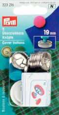 Prym Metal Cover Button with Tool 19mm 5pc