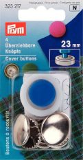 Prym Metal Cover Button with Tool 23mm 4pc