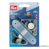 Prym Jeans-Buttons Brass Antique Silver American Star