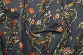 Lady McElroy Charcoal Dream Sateen Drill Faulty Remnant - 3m