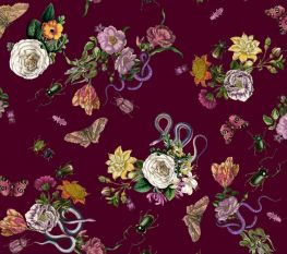 PRE-ORDER Lady McElroy Cobra Corsage - Mulberry Viscose Challis Lawn
