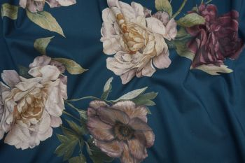 Lady McElroy Midnight Rosette Cotton Marlie Lawn Remnant - 1.5m