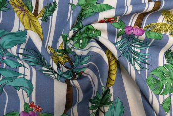 Lady McElroy Stripey Palms - Blue Faulty Remnant - 0.6m