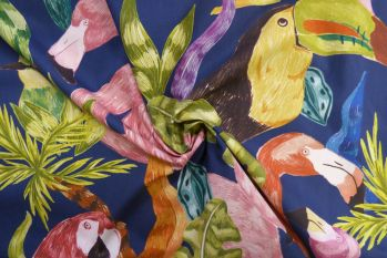 Lady McElroy Toucan Flamingo - Navy Faulty Remnant 1M